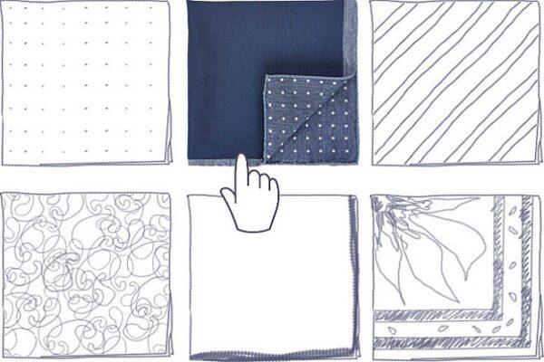 Как выбрать платок для нагрудного кармана пиджака.